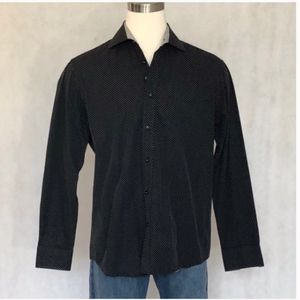 Bugatchi Long Sleeve Shaped Fit Dress Shirt